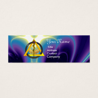ROD OF ASCLEPIUS DENTIST DENTISTRY MINI BUSINESS CARD