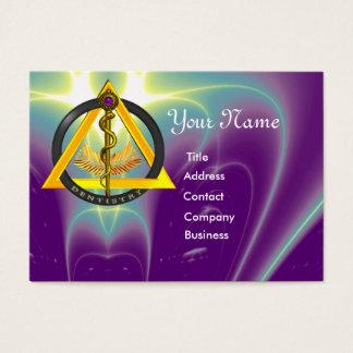 ROD OF ASCLEPIUS DENTIST DENTISTRY MONOGRAM BUSINESS CARD