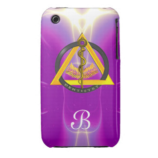 ROD OF ASCLEPIUS DENTIST DENTISTRY MONOGRAM Case-Mate iPhone 3 CASE