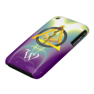 ROD OF ASCLEPIUS DENTIST DENTISTRY MONOGRAM Case-Mate iPhone 3 CASES