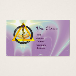 ROD OF ASCLEPIUS DENTIST DENTISTRY Pearl Business Card