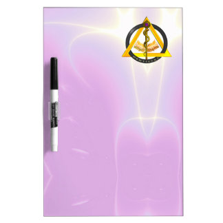 ROD OF ASCLEPIUS DENTIST DENTISTRY SYMBOL ,lilac Dry-Erase Board