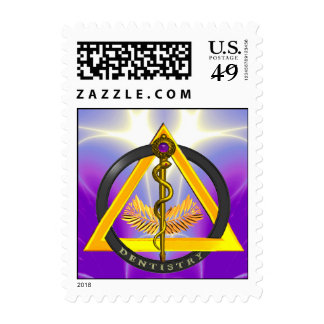 ROD OF ASCLEPIUS DENTIST DENTISTRY SYMBOL POSTAGE