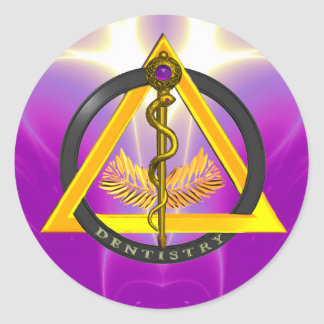 ROD OF ASCLEPIUS DENTIST DENTISTRY SYMBOL STICKERS