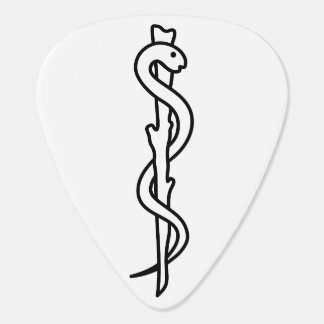 Rod of Asclepius Guitar Pick