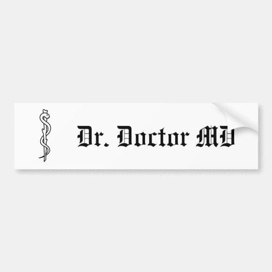 Rod of Asclepius [medical symbol] Bumper Sticker