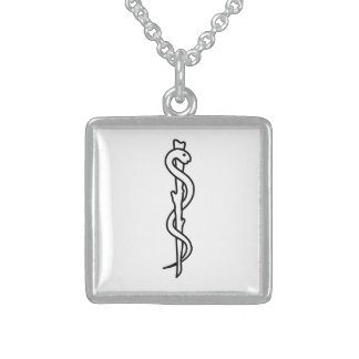 Rod of Asclepius [medical symbol] Custom Necklace