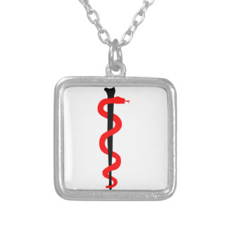 Rod of Asclepius Necklace