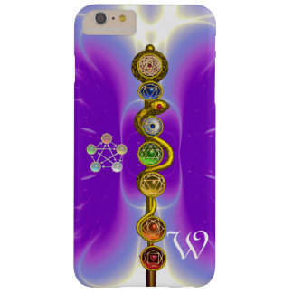 ROD OF ASCLEPIUS WITH 7 CHAKRAS ,SPIRITUAL ENERGY BARELY THERE iPhone 6 PLUS CASE