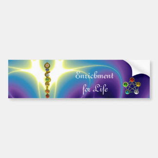 ROD OF ASCLEPIUS WITH 7 CHAKRAS ,SPIRITUAL ENERGY BUMPER STICKER