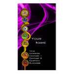 ROD OF ASCLEPIUS WITH 7 CHAKRAS ,SPIRITUAL ENERGY BUSINESS CARD