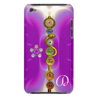ROD OF ASCLEPIUS WITH 7 CHAKRAS ,SPIRITUAL ENERGY iPod TOUCH Case-Mate CASE