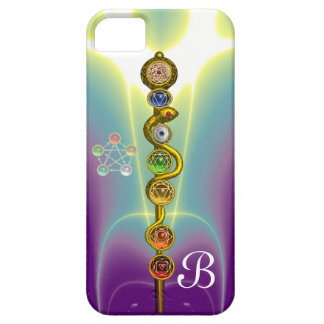 ROD OF ASCLEPIUS WITH 7 CHAKRAS ,SPIRITUAL ENERGY iPhone SE/5/5s CASE