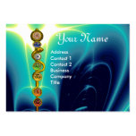 ROD OF ASCLEPIUS WITH 7 CHAKRAS ,SPIRITUAL ENERGY LARGE BUSINESS CARD
