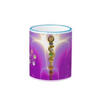 ROD OF ASCLEPIUS WITH 7 CHAKRAS SPIRITUAL ENERGY COFFEE MUGS