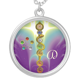 ROD OF ASCLEPIUS WITH 7 CHAKRAS ,SPIRITUAL ENERGY, JEWELRY