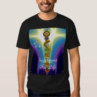 ROD OF ASCLEPIUS WITH 7 CHAKRAS ,SPIRITUAL ENERGY T-Shirt