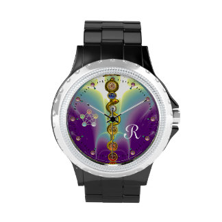 ROD OF ASCLEPIUS WITH 7 CHAKRAS ,SPIRITUAL ENERGY WRIST WATCHES