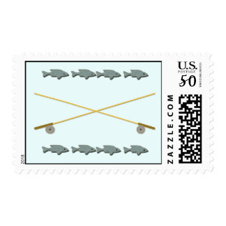 Rod Reel Fish Postage