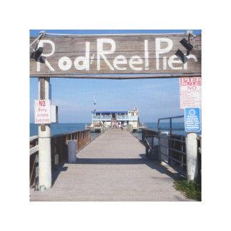 Rod & Reel Pier Canvas Print