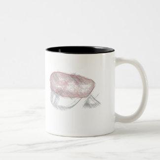 rød russ lue kaffi kopp Two-Tone coffee mug