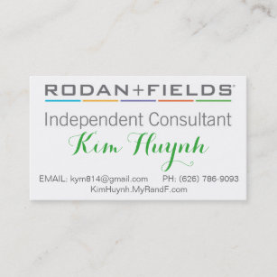 Rodan and fields business cards zazzle rodan and field business card fbccfo Choice Image