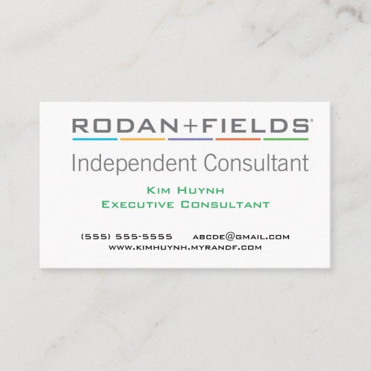 Rodan and Fields Business Card Zazzlecom