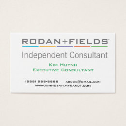 Rodan And Fields Business Cards Templates Zazzle - Rodan and fields business card template