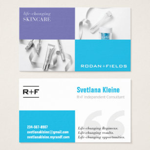 Rodan and fields business cards templates zazzle rodan and fields business cards accmission Image collections