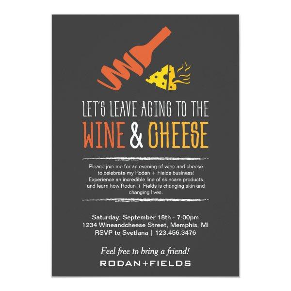 Rodan and Fields Invitation Wine Cheese Custom Products
