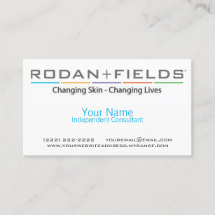 Rodan and fields business cards zazzle rodan fields business card accmission Image collections