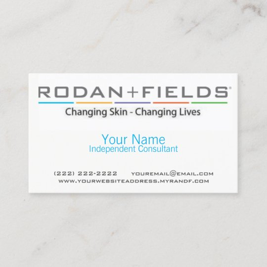 Rodan fields business card zazzle rodan fields business card colourmoves
