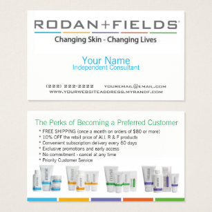 Rodan and fields business cards templates zazzle rodan fields business card accmission Image collections