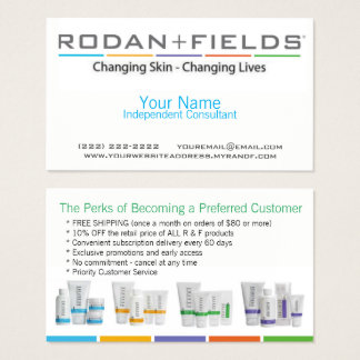 Rodan And Fields Business Cards & Templates | Zazzle