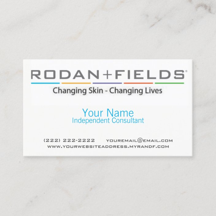 Rodan Fields Business Card Zazzle