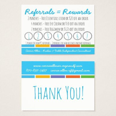 Rodan Fields Referral Rewards And Business Card Zazzlecom - Rodan and fields business card template