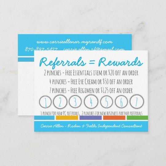 Rodan fields referral punch caard loyalty card zazzle rodan fields referral punch caard loyalty card colourmoves
