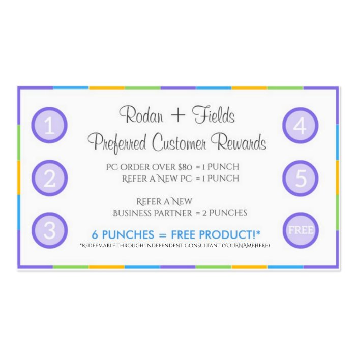 Rodan + Fields Referral Rewards and Business Card | Zazzle