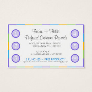 Rodan and fields business cards templates zazzle rodan fields referral rewards and business card accmission Image collections