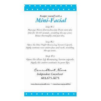 Rodan + Mini tarjeta de instrucciones facial de Tarjetas De Visita