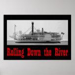 Rodando abajo el poster del río 36 x 24