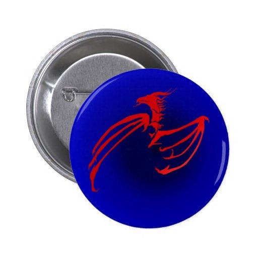 Rode Draak 2 Inch Round Button