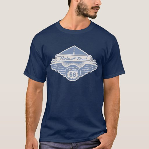 Rode the Road -blue T-Shirt