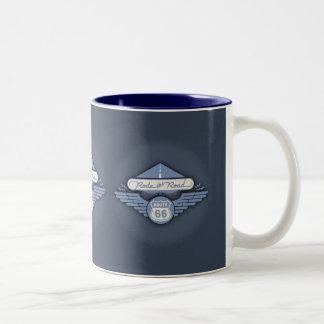 Rode the Road -blue Two-Tone Coffee Mug