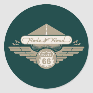 Rode the Road -gold Classic Round Sticker