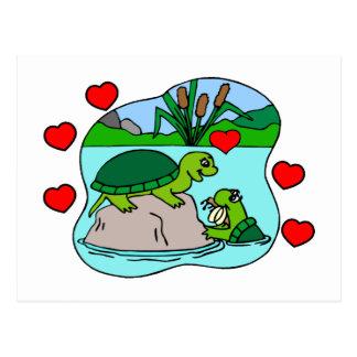 Rodeado por amor de la tortuga postales