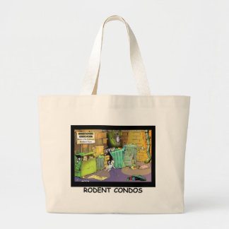 Rodent Condo Assn Funny Cartoon Gifts & Tees Large Tote Bag