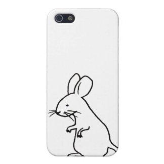 Rodent rat mouse ink line drawing art design logo iPhone SE/5/5s case