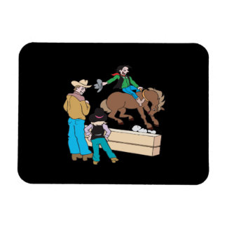 Rodeo 2 rectangle magnet