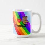 Rodeo-Arco iris del orgullo gay Taza De Café